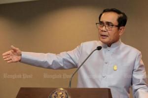 Prayut vraagt de media af te zien van kritiek op line-up nieuw kabinet