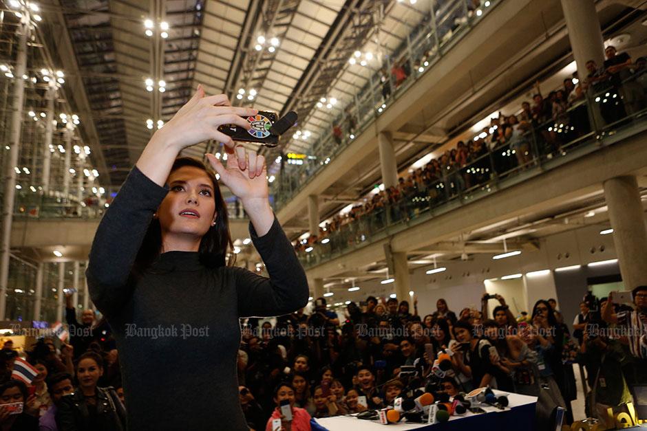 Miss Thailand terug in eigen land