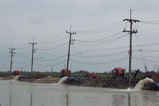 Waterpompen luchthaven Nakhon Si Thammarat