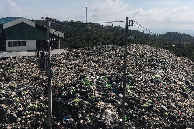 Afvalberg op Koh Tao